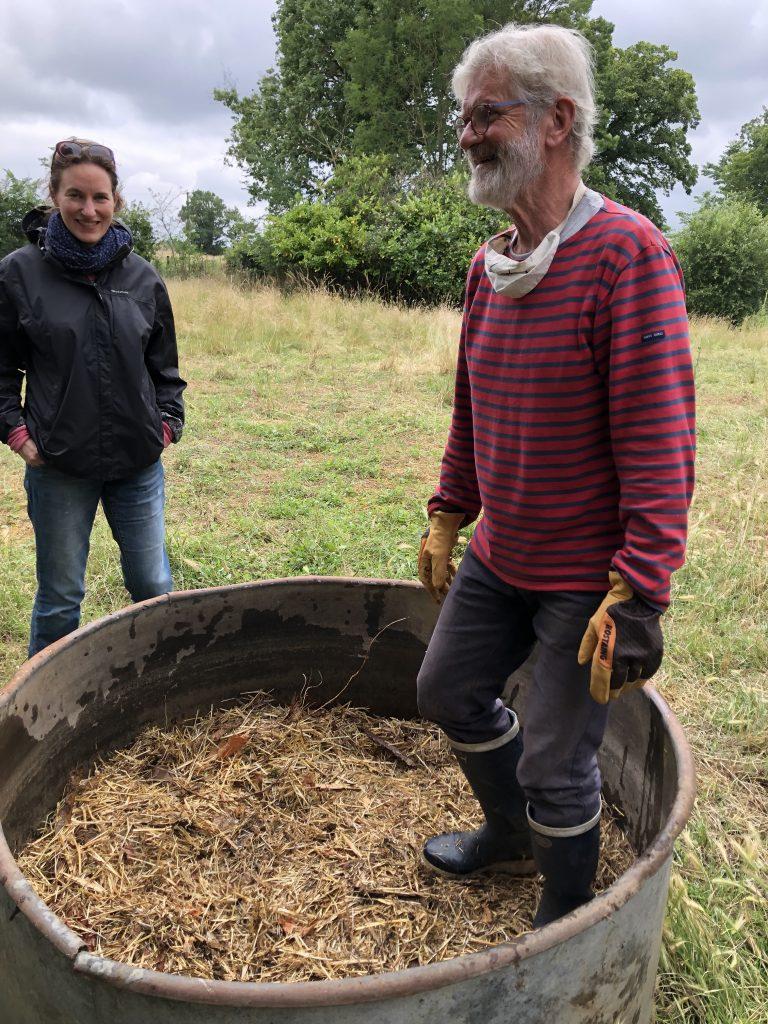 bac à compost tour d'Auzay